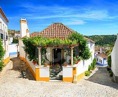 Photo about Close up of traditional home in Obidos village, Leiria, Portugal. Image of colors, obidos, dwelling - 9432807 Medieval City, Portugal Country, Day Trips From Lisbon, 3 Days Trip, Images Of Colours, Visit Portugal, A Whole New World, Traditional House, Places To Travel