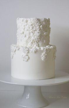 Two tier bas relief cake. Amazing Wedding Cakes, White Wedding Cakes, Elegant Wedding Cakes, Wedding Cake Designs, Amazing Cakes, Pretty Cakes, Beautiful Cakes, Première Communion, Sugar Cake