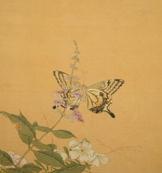 Attributed to Jiang Pu (1708-1761): An Album of Ten Paintings of Insects and Flowers, each painted with ink and color on silk, Sold for $43,950 #michaans #asianart http://www.michaans.com/events/2013/auct_12152013.php