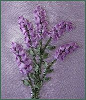 Lavender in Silk Ribbon tutorial