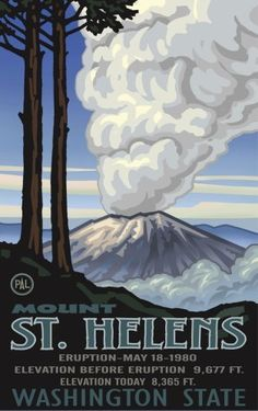 "Northwest Art Mall 11"" x 17"" Poster Mount St. Helen's Eruption by Paul A. Lanquist by Northwest Art Mall, http://www.amazon.com/dp/B001AND5Q2/ref=cm_sw_r_pi_dp_lDiaqb0QZZ5QV"