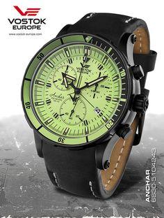 Vostok Europe Anchar Submarine Chrono Black/Black Watch 6S30/5104243