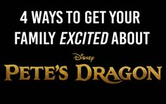 Pete's Dragon is slowly inching closer and I'm getting antsy! I'm sure there's are tons of you out there getting more excited as each day approaches. Pete's Dragon is another Disney classic that's being brought back to the big screen as a live-action film. Sometimes I feel like nobody is as excited as I am about new movies. That's why I have a few ideas to get everyone just as excited as I am for Pete's Dragon. Enjoy!