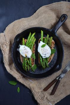 Asparagus and Poached Egg Bruschetta