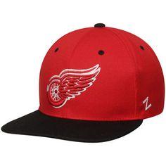 Detroit Red Wings Zephyr Z11 Snapback Adjustable Hat - Red/Black