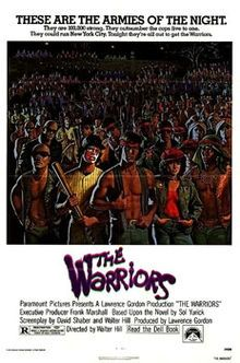 The Warriors is a 1979 American cult action/thriller film directed by Walter Hill and based on Sol Yurick's 1965 novel of the same name. Like the novel, the film borrows elements from the Anabasis by Xenophon.