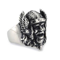 Men's Stainless Steel Thor Viking Warrior Biker Ring