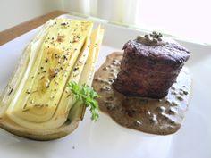 Filet ao Poivre Vert e Palmito pupunha assado com azeite de manjericão 2