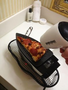 if you ever worry about your cooking skills, remember that at least you're not using an iron & a hairdryer