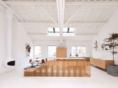 Penthouse Refurbishment is a minimalist interior renovation located in Paris, France, designed by 05 AM Minimalist Interior, Minimalist Decor, Victorian Terrace House, Parisian Apartment, Loft, Attic Spaces, Pent House, Architecture, Living Spaces