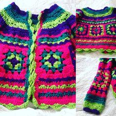 Chaleco tejido a crochet.. Combinación de colores y puntos!