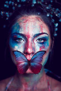 Color Dance | Isabella Mariana | Flickr / Butterfly Portrait / Watercolor Portrait Photo Original, Portrait Art, Color Portrait, Creative Portrait Photography, Art Photography, Photography Marketing, Kreative Portraits, Shotting Photo, Photographie Portrait Inspiration