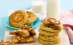 Peanut-choc pretzel cookies recipe - By Woman's Day, These sweet and nutty peanut-choc pretzel cookies are the ultimate treat or weekend decadence! Rich and chocolately - these cookies are sure to be a crowd-pleaser!