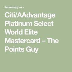 Citibank aadvantage platinum 60k bonus miles business card at 70k citiaadvantage platinum select world elite mastercard the points guy colourmoves