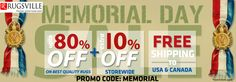 Hurray! Exclusive offer on MEMORIAL Day, Get amazing discount on unique rugs, Up to 80 % off. Offer for limited time..Visit: www.rugsville.com.