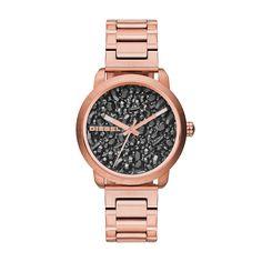 Diesel Ladies Watch. #DIESEL #womenswatch #rosegold #texturedface #atphoenixjewellers