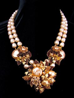 Decades of Excellence in Handmade Costume Jewelry Stanley Hagler N. Pearl Necklace, Beaded Necklace, Timeless Design, Sparkles, Costume Jewelry, Vintage Jewelry, Jewellery, Pearls, Handmade