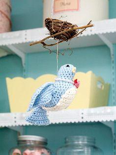 Crocheted Bird