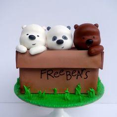 Cute Polymer Clay, Cute Clay, Bolo Panda, Bear Cakes, Panda Bear Cake, Panda Cakes, Dog Cakes, Cute Baking, We Bare Bears Wallpapers