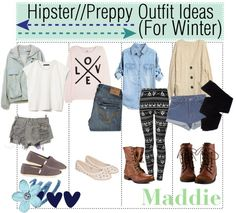 """Hipster//Preppy Outfits (For Winter)"" by for-the-love-of-tips ❤ liked on Polyvore"