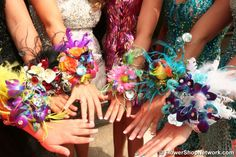 Colorful Prom Corsages!