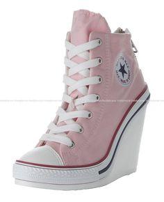 Maxstar 777-BZ Back Zip Wedge Heel High-Top Sneakers #Maxstar #FashionSneakers