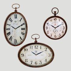 Chantal Oval Horizontal Iron Clock | World Market