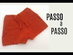 Teje Short/Pantalon Corto Para Verano C Content - Diy Crafts Crochet Bikini Bottoms, Crochet Crop Top, Cotton Crochet, Knit Crochet, Crochet Shorts Pattern, Crochet Patterns, Baby Dress Tutorials, Diy Shorts, Crochet Toddler
