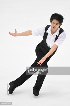 Takahiko Kozuka of Japan competes in the Men's Short Program during the 83rd All Japan Figure Skating Championships at Big Hat on December 26, 2014 in Nagano, Japan.