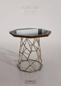 Gaudi side table by Pont des Arts Studio (Paris). Designer Monzer Hammoud.