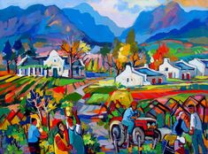 Artwork of Isabel le Roux exhibited at Robertson Art Gallery. Original art of more than 60 top South African Artists - Since Africa Painting, Artist Painting, Painting Gallery, Art Gallery, South Africa Art, African Wall Art, Colorful Abstract Art, Oil Painting Texture, South African Artists