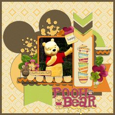 Pooh bear scrapbook layout