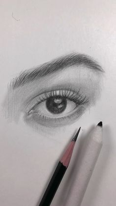 Zeichnen Drawing of the eye. How I draw an eye video Art Sketches art sketches draw drawing Eye Video Zeichnen Cool Art Drawings, Realistic Drawings, Art Drawings Sketches, Easy Drawings, Indie Drawings, Realistic Eye, Pencil Sketch Drawing, Drawing Eyes, Pencil Art Drawings