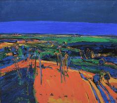 "terminusantequem: ""Henrietta Berk (American, 1919-1990), The Hill, c.1966. Oil on canvas, 47.5 x 53.5 in. """