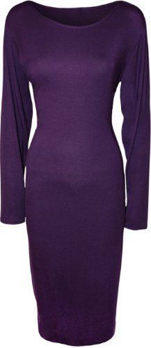 WearAll Women's Plus Size Plain Midi Dress - Purple - US 12-14 (UK 16-18) WearAll http://www.amazon.com/dp/B00GIQ83VI/ref=cm_sw_r_pi_dp_VLCjub1RZRMJX  $15.45