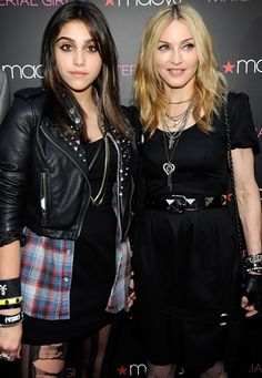 """Lola Leon and Madonna at the launch of """"Material Girl"""" in 2010."""