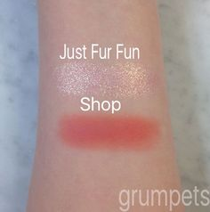 Colourpop swatches: eyeshadows in Just Fur Fun and Shop