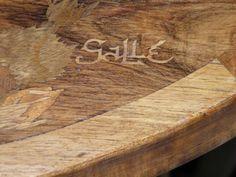tables gigognes marquettées et signées gallé
