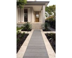 Bluestone and travertine - the pale grey with a cream border fit so well