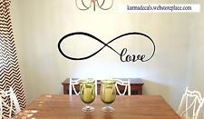 "LOVE INFINITY Wall Lettering Word Decal Vinyl Quote Sticker Decor 48"" Style 1"