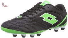 Lotto  STADIO P VI 300 FG, Chaussures de football pour compétition hommes - Multicolore - Mehrfarbig (BLK/MINT FL), Taille 43 EU - Chaussures lotto (*Partner-Link)