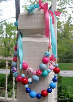 chunky bead toddler necklace