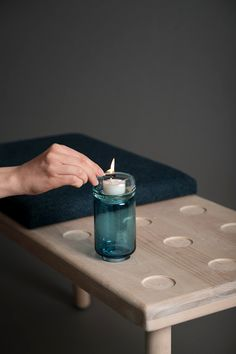 """Stackable candleholder by Studio Føy.  """"Stable"""" means stack in norwegian, and that ́s exactly what you can do with it. Stack the different parts on top of each other, and organize your candleholder in new ways to suit different occasions. Combine sizes and colors as you like to personalize your candleholder. It can be used both ways, and suits both candles and tealights."""