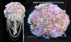Wedding Brooch Bouquets, Autumn Theme, Flower Making, Jewelry Crafts, Blush Pink, Lady, Flowers, Handmade, Light Rose