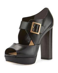 Eleni Mary Jane Platform Sandal, Black