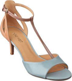 Nine West Aqua Multi Leather - Gaget T-Strap Sandals