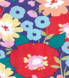 Koko Lee™ Cotton Fabric-Bold Floral Blooms
