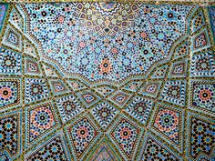 A Glance of Heaven: A vault at the Nasr al-Mulk Mosque at Shiraz