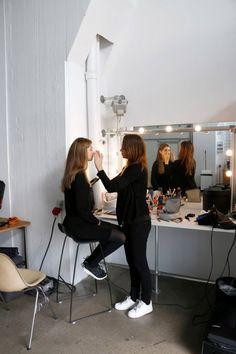 Make-up artist & blogger Liv Winther, (thethingswedo.cover.dk) styling our model Cecilie Kvorning, Unique Models (DK)