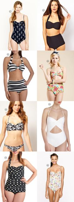 High waisted swimsuits!